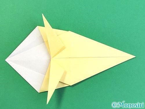 折り紙でアヒルの折り方手順31