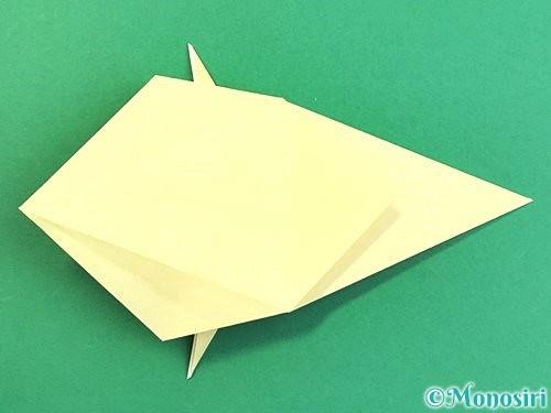 折り紙でアヒルの折り方手順32