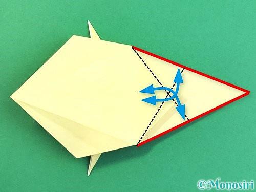 折り紙でアヒルの折り方手順33