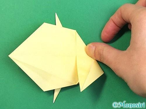 折り紙でアヒルの折り方手順35