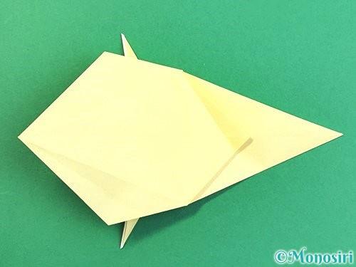 折り紙でアヒルの折り方手順36