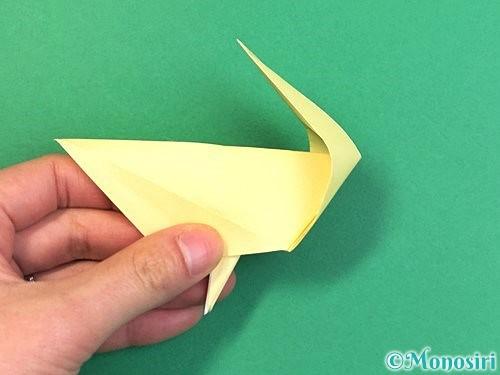 折り紙でアヒルの折り方手順40
