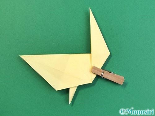 折り紙でアヒルの折り方手順41