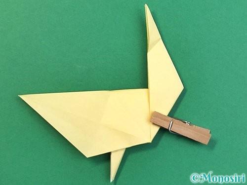 折り紙でアヒルの折り方手順43