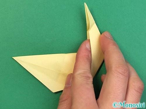 折り紙でアヒルの折り方手順44