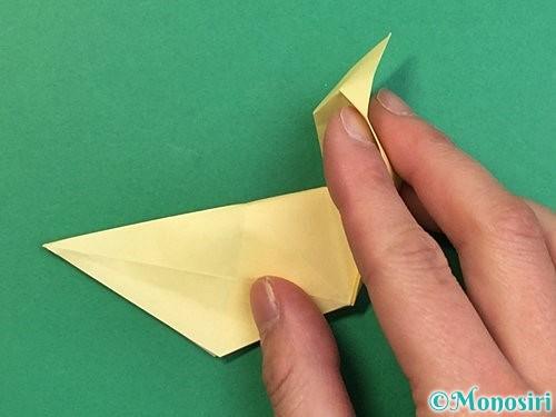 折り紙でアヒルの折り方手順46