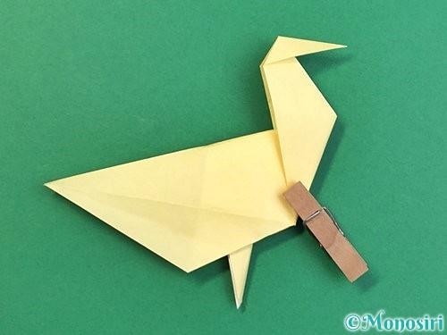 折り紙でアヒルの折り方手順47