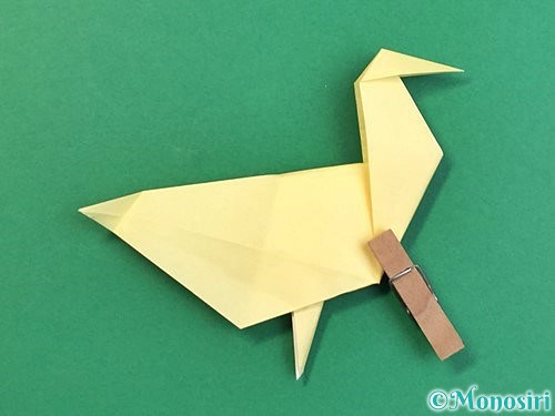 折り紙でアヒルの折り方手順49
