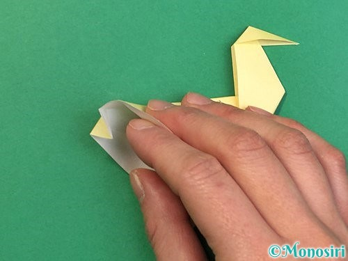 折り紙でアヒルの折り方手順52