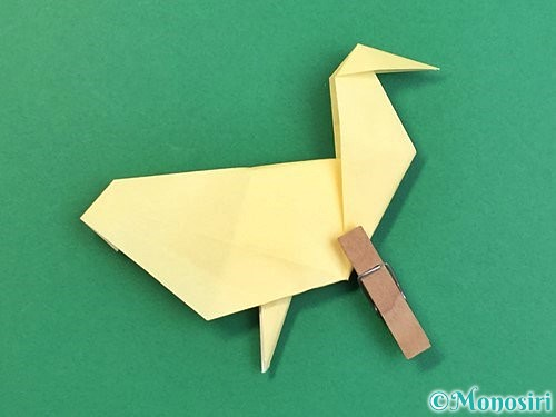 折り紙でアヒルの折り方手順53