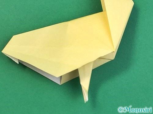 折り紙でアヒルの折り方手順55