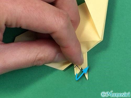 折り紙でアヒルの折り方手順57
