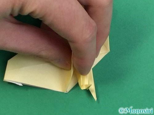 折り紙でアヒルの折り方手順58