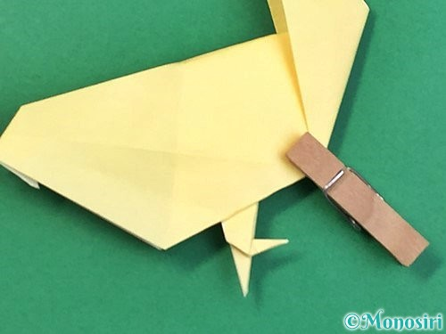 折り紙でアヒルの折り方手順59