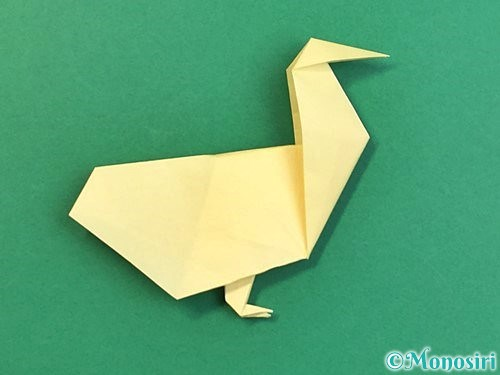折り紙でアヒルの折り方手順61