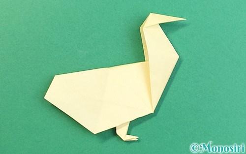 折り紙で折ったアヒル