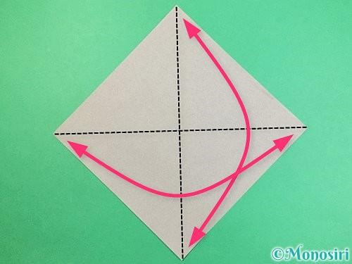折り紙でフクロウの折り方手順1