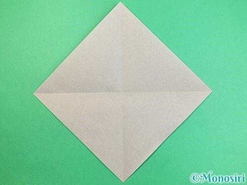 折り紙でフクロウの折り方手順2