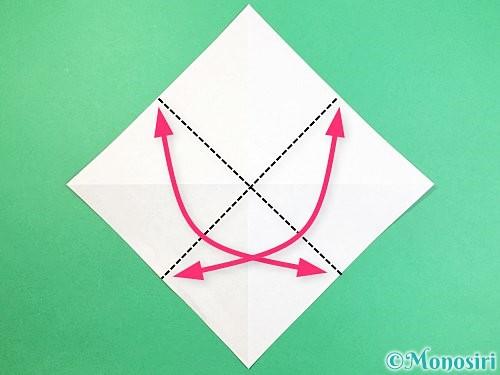 折り紙でフクロウの折り方手順4