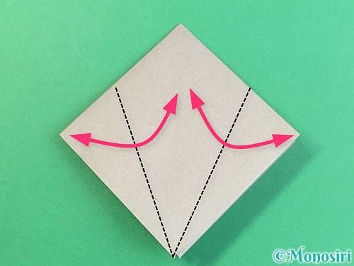 折り紙でフクロウの折り方手順9