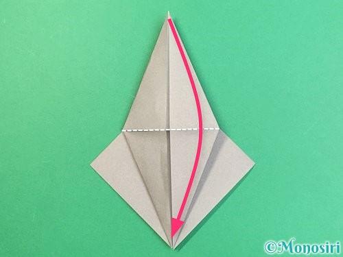 折り紙でフクロウの折り方手順16
