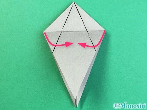 折り紙でフクロウの折り方手順19