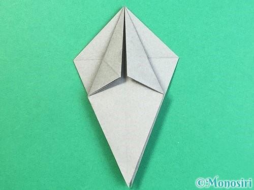 折り紙でフクロウの折り方手順20