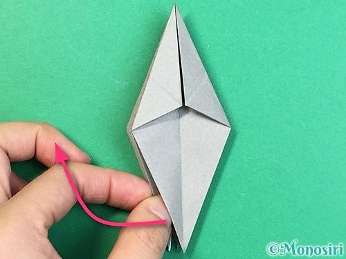 折り紙でフクロウの折り方手順22