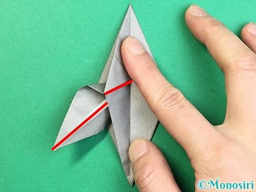 折り紙でフクロウの折り方手順23