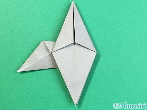 折り紙でフクロウの折り方手順25