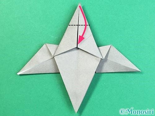 折り紙でフクロウの折り方手順27