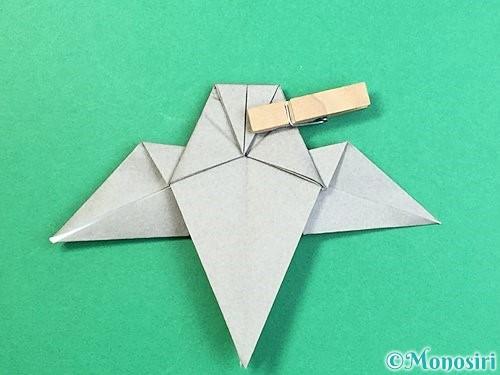 折り紙でフクロウの折り方手順28