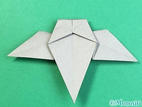 折り紙でフクロウの折り方手順31