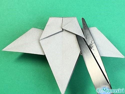 折り紙でフクロウの折り方手順33