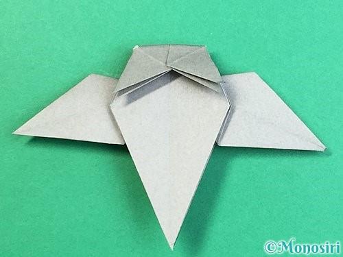 折り紙でフクロウの折り方手順34