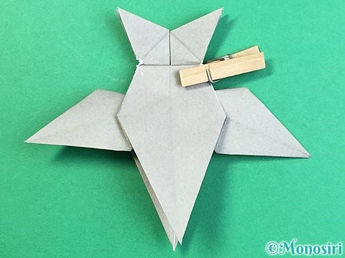 折り紙でフクロウの折り方手順36