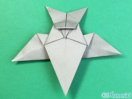 折り紙でフクロウの折り方手順37