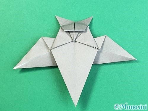 折り紙でフクロウの折り方手順39