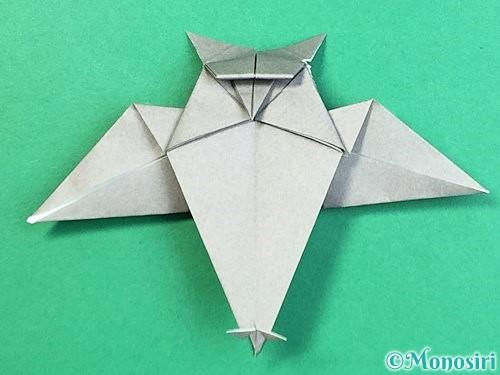 折り紙でフクロウの折り方手順42