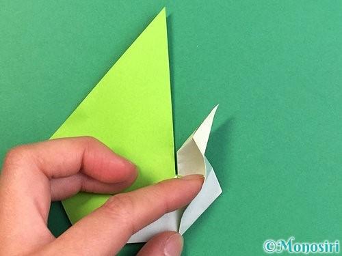 折り紙で孔雀の折り方手順27