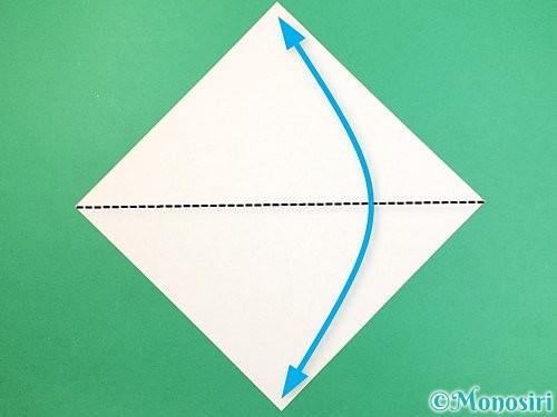 折り紙でインコの折り方手順1