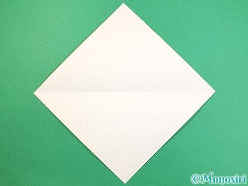 折り紙でインコの折り方手順2