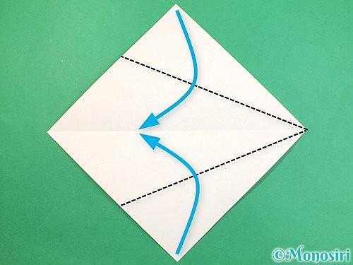 折り紙でインコの折り方手順3