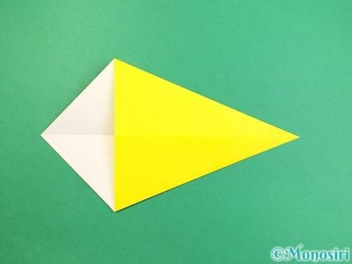 折り紙でインコの折り方手順4