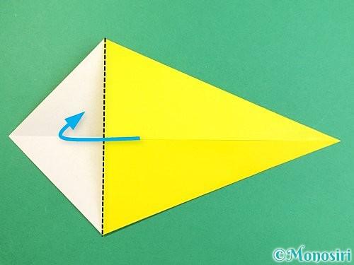 折り紙でインコの折り方手順5