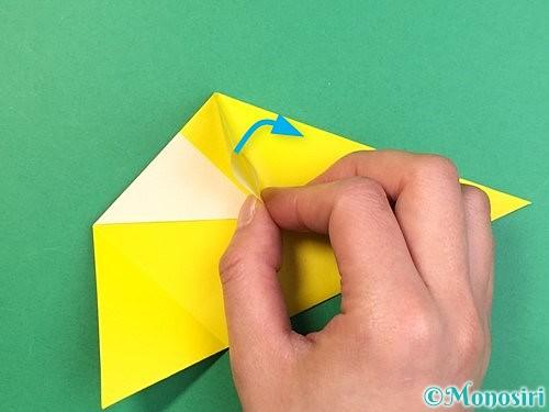 折り紙でインコの折り方手順13