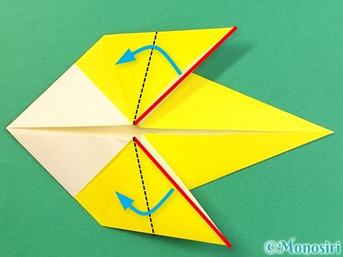 折り紙でインコの折り方手順16