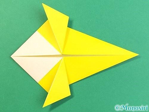 折り紙でインコの折り方手順17