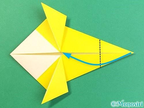 折り紙でインコの折り方手順18