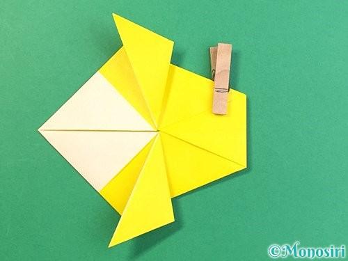 折り紙でインコの折り方手順19